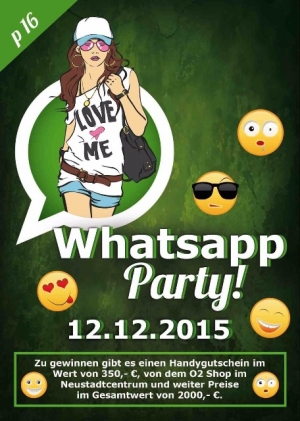 Whatsapp-Party im Flash-City