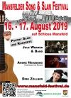Das 4. Song und Slamfestival  vom 16. und 17. August auf Schloss Mansfeld